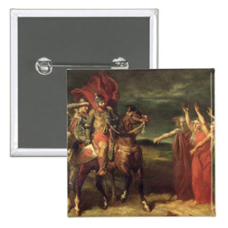 Macbeth and the Three Witches, 1855 15 Cm Square Badge