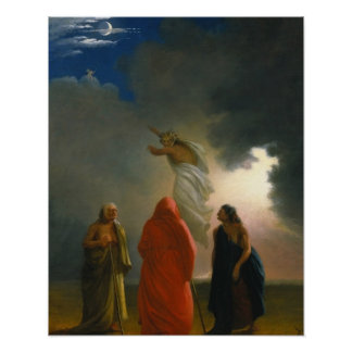 Macbeth and the Three Witches Poster