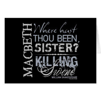 Macbeth Killing Swine Quote Card