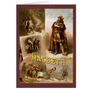 Macbeth, the Play 1884 Card