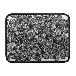 Macbook Air sleeve with Gardens #1 hand drawn art