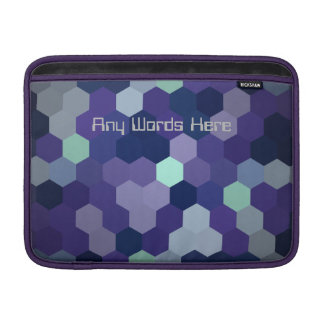 Macbook Air zipped case cover lined Custom Text MacBook Sleeves