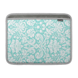 Macbook Teal Damask Pattern MacBook Sleeve