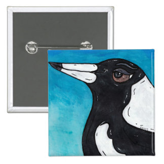 Macca the Magpie Pin