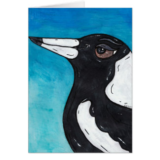 Macca the Magpie Greeting Card