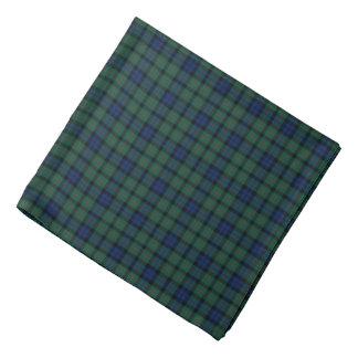 MacCallum Clan Tartan Dark Blue and Green Plaid Bandana
