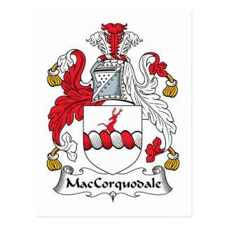 MacCorquodale Family Crest Postcard