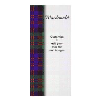 Macdonald clan Plaid Scottish tartan 10 Cm X 23 Cm Rack Card