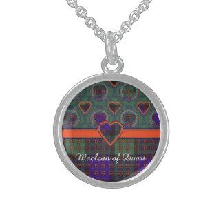 Macdonald Clan Plaid Scottish tartan Sterling Silver Necklace