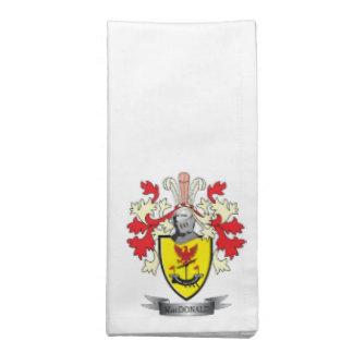 MacDonald Family Crest Coat of Arms Napkin