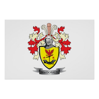 MacDonald Family Crest Coat of Arms Poster