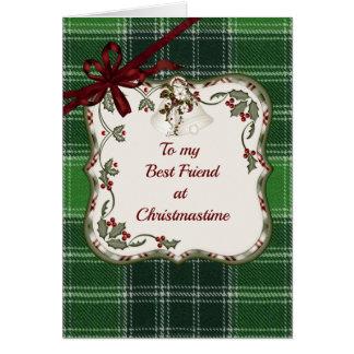MacDonald Lord of the Isle Tartan Christmas Friend Card