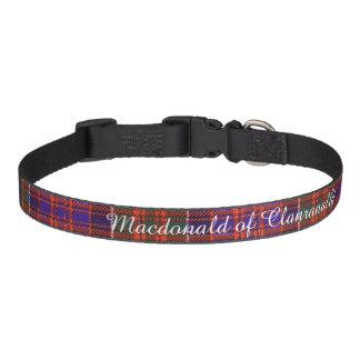 Macdonald of Clanranalld Plaid Scottish tartan Dog Collars