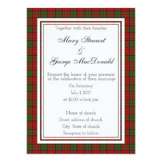 MacDonald Of Glencoe Scottish Wedding Invitation