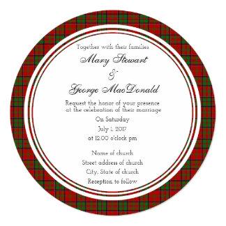 MacDonald Of Glencoe Scottish Wedding Round Invita Card