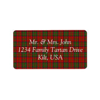 MacDonald Of Glencoe Tartan Label