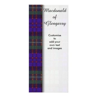 Macdonald of Glengarry clan Plaid Scottish tartan Customised Rack Card
