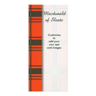 Macdonald of Sleate Plaid Scottish tartan Full Colour Rack Card