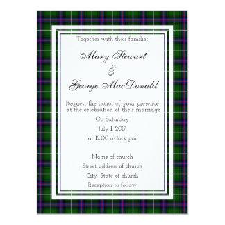 MacDonald Of The Isles Scottish Wedding Invitation