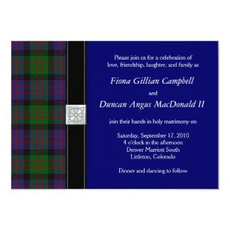"MacDonald Tartan Celtic Wedding Invitation 5"" X 7"" Invitation Card"