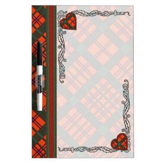 Macdonell of Keppoch clan Plaid Scottish tartan Dry Erase Boards