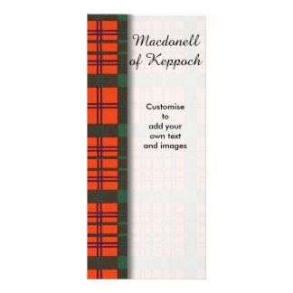 Macdonell of Keppoch clan Plaid Scottish tartan Custom Rack Card