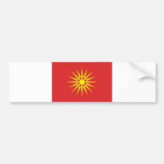 macedonia country old flag bumper sticker