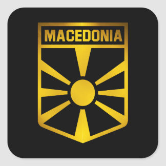 Macedonia Emblem Square Sticker