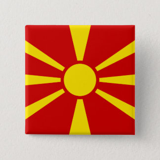Macedonia Flag 15 Cm Square Badge