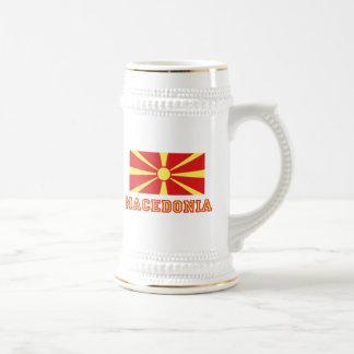 Macedonia Flag 2 Beer Steins