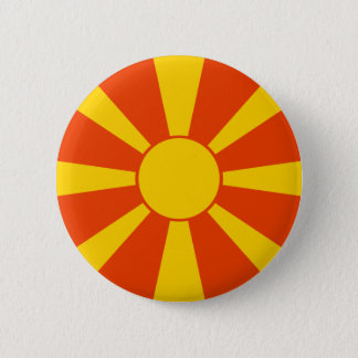 Macedonia Flag 6 Cm Round Badge