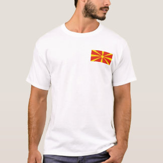 Macedonia Flag and Map T-Shirt