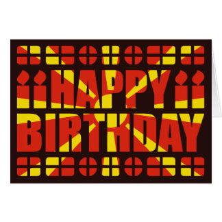 Macedonia Flag Birthday Card