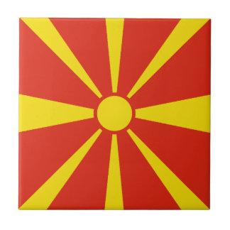 Macedonia Flag Ceramic Tile