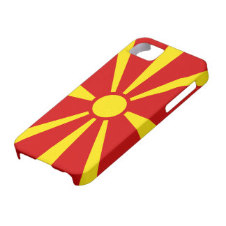Macedonia flag - Cover/iPhone Housing 5/5S Barely There iPhone 5 Case