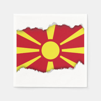 Macedonia Flag Disposable Serviette
