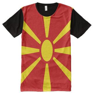 Macedonia Flag full All-Over Print T-Shirt