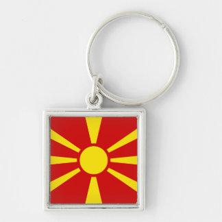 Macedonia Flag Key Ring