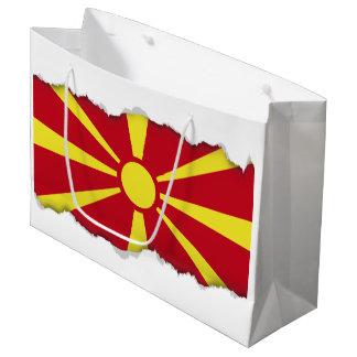 Macedonia Flag Large Gift Bag