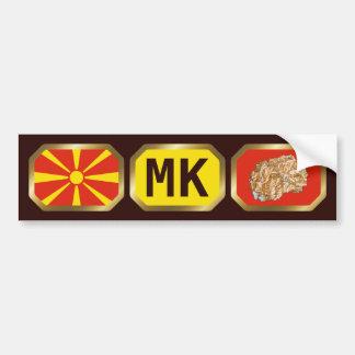 Macedonia Flag Map Code Bumper Sticker