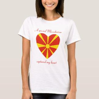Macedonia Flag Sweetheart T-Shirt