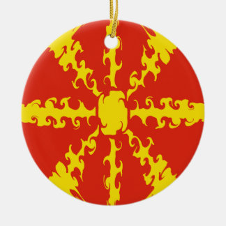 Macedonia Gnarly Flag Christmas Ornament