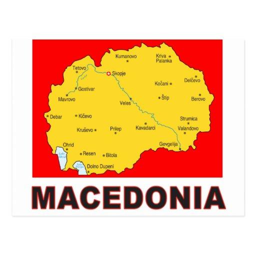 Macedonia Map Postcards