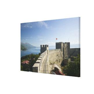 MACEDONIA, Ohrid. Car Samoil's Castle - Castle Stretched Canvas Print