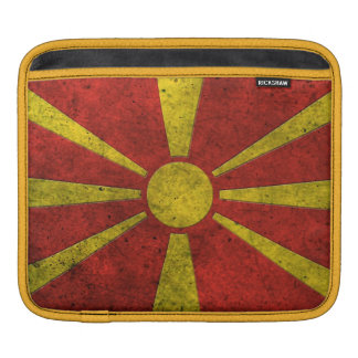 Macedonian Flag Aged Steel Effect Sleeves For iPads