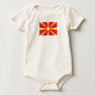 Macedonian Flag Baby Bodysuit