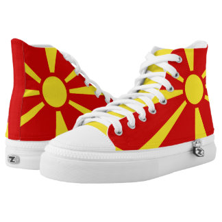 Macedonian flag high tops