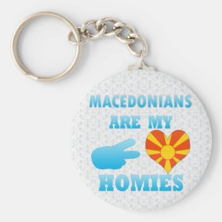 Macedonians are my Homies Key Ring