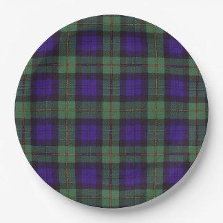 Macewen clan Plaid Scottish tartan Paper Plate