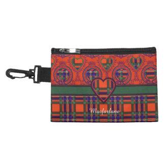 Macfarlane clan Plaid Scottish tartan Accessory Bag